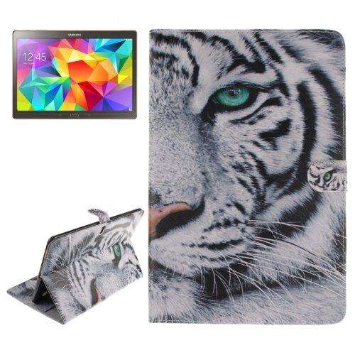 For Tab S 10.5 Tiger Pattern Leather Case with Holder & Card Slots & Wallet