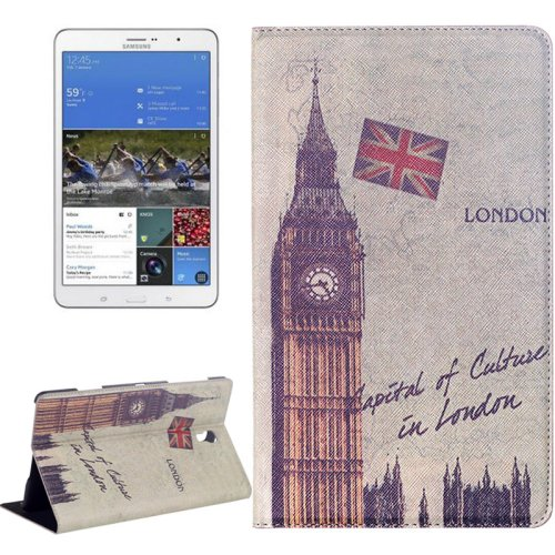 For Galaxy Tab S 8.4/T700 Big Ben Pattern Flip Leather Case with Holder