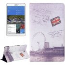 For Galaxy Tab S 8.4/T700 London Ferris Wheel Pattern Flip Leather Case with Holder