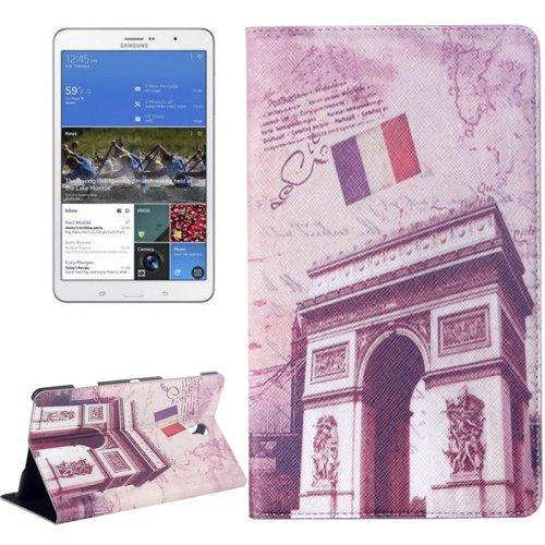 For Galaxy Tab S 8.4/T700 Triumphal Arch Pattern Flip Leather Case with Holder