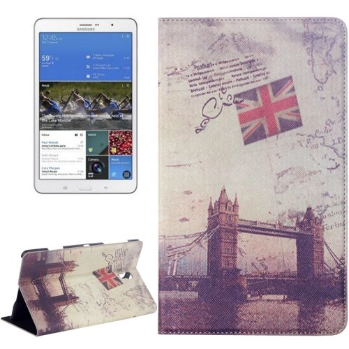 For Galaxy Tab S 8.4/T700 London Bridge Pattern Flip Leather Case with Holder