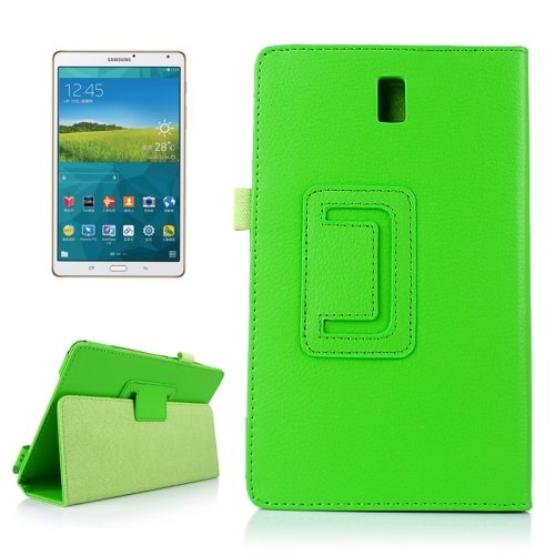 For Tab S 8.4/T700 Litchi Texture Horizontal Flip Leather Case with 2 Folding Holder - # Colors