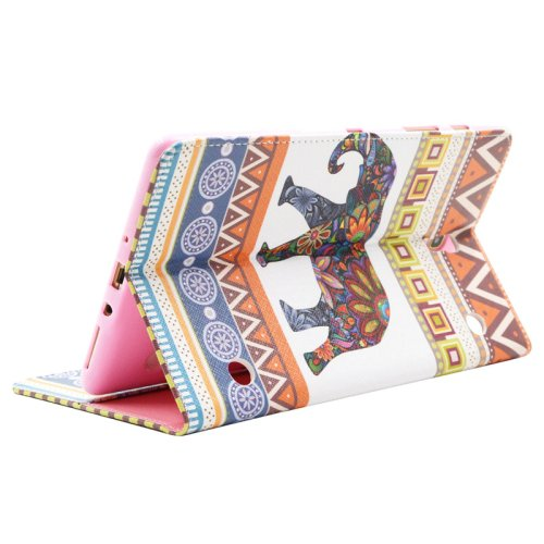 For Galaxy Tab S 8.4 Elephant Pattern Cross Leather Case with Holder, Card Slots & Wallet