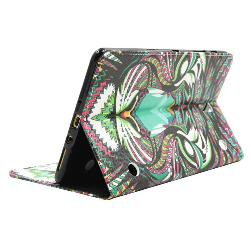 For Galaxy Tab S 8.4 Tiger Pattern Cross Leather Case with Holder, Card Slots & Wallet