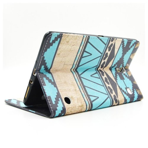 For Galaxy Tab S 8.4 Ethnic Pattern Cross Leather Case with Holder, Card Slots & Wallet
