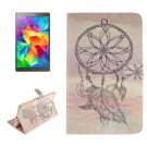 For Galaxy Tab S 8.4 Windbell Pattern Leather Case with Holder, Card Slots & Wallet