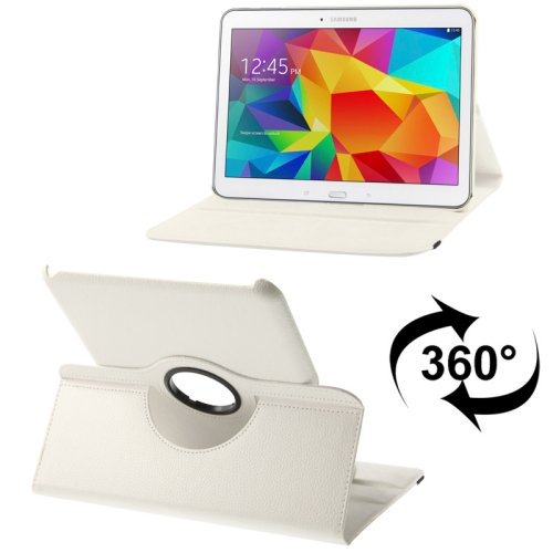 For Tab 4/10.1 Litchi Texture Leather Case with 2-angle Viewing Rotating Holder - # Colors