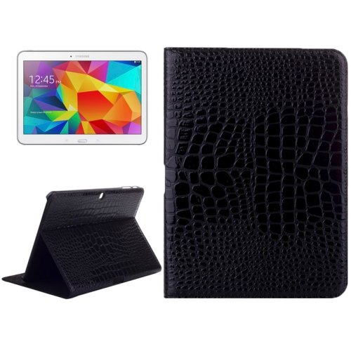 For Galaxy Tab 4 / 10.1 Crocodile Texture Leather Case with Holder - # Colors