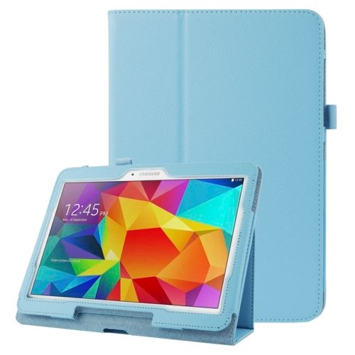 For Galaxy Tab 4 / 10.1 Litchi Texture Leather Case with Holder - # Colors