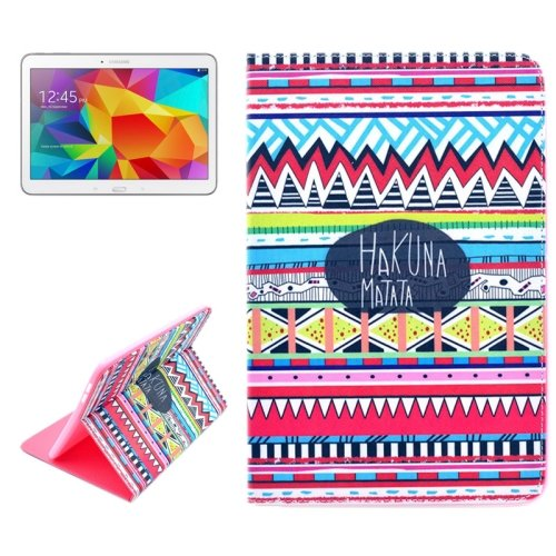 For Galaxy Tab 4 / 10.1 HAKUNA Pattern Horizontal Flip Leather Case with Holder
