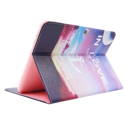 For Galaxy Tab 4 / 10.1 Anchor Pattern Leather Case with Holder, Card Slots & Wallet