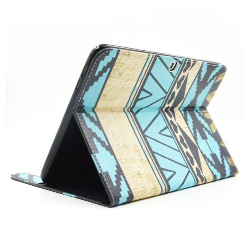 For Galaxy Tab 4 / 10.1 Aztec Pattern Leather Case with Holder, Card Slots & Wallet
