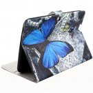 For Galaxy Tab 4 / 10.1 butterfly Pattern Leather Case with Holder, Card Slots & Wallet