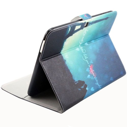 For Galaxy Tab 4 / 10.1 Tower Pattern Leather Case with Holder, Card Slots & Wallet