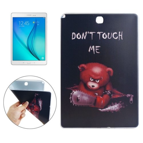 For Galaxy Tab 4 / 10.1 DONT TOUCH ME Pattern TPU Protective Case