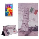 For Galaxy Tab 4 / 8.0 Tower of Pisa Pattern Leather Case with Holder