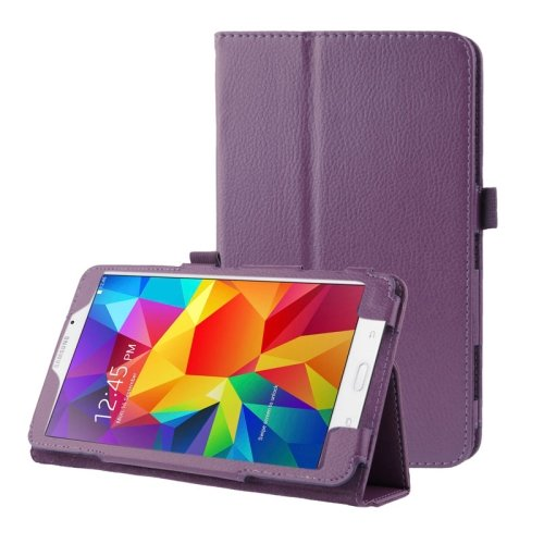 For Galaxy Tab 4 / 8.0 Litchi Texture Flip Leather Case with Holder - # Colors