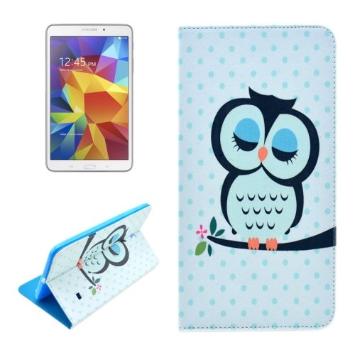 For Galaxy Tab 4 / 8.0 Owl Pattern Flip Leather Case with Holder