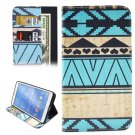 For Galaxy Tab 4 / 8.0 Geometry Pattern Leather Case with Holder, Card Slots & Wallet