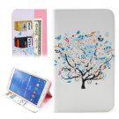 For Galaxy Tab 4 / 8.0 Tree Flower Pattern Leather Case with Holder, Card Slots & Wallet