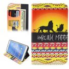 For Galaxy Tab 4 / 8.0 HAKUNA Pattern Leather Case with Holder, Card Slots & Wallet
