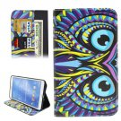 For Galaxy Tab 4 / 8.0 Cartoon Owl Pattern Leather Case with Holder, Card Slots & Wallet