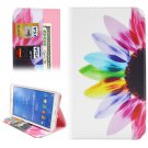 For Galaxy Tab 4 / 8.0 Sunflower Pattern Leather Case with Holder, Card Slots & Wallet