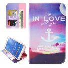 For Galaxy Tab 4 / 8.0 Anchor Pattern Leather Case with Holder, Card Slots & Wallet