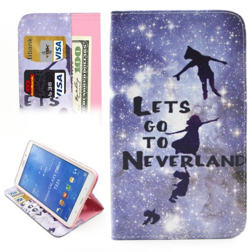 For Galaxy Tab 4 / 8.0 Neverland Pattern Leather Case with Holder, Card Slots & Wallet