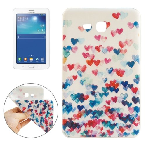 For Galaxy Tab 3 Lite 7.0 Love Heart Pattern TPU Protective Case