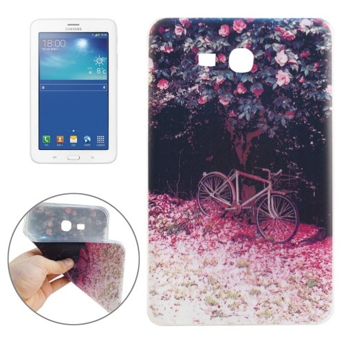 For Galaxy Tab 3 Lite 7.0 Bicycle Pattern TPU Protective Case