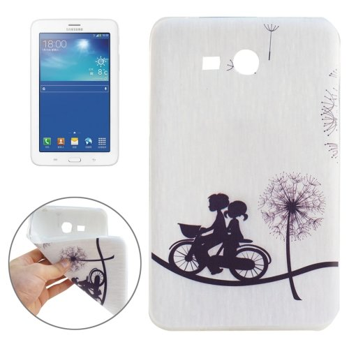 For Galaxy Tab 3 Lite 7.0 Dandelion Couple Pattern TPU Protective Case