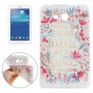 For Galaxy Tab 3 Lite 7.0 FIERCE Pattern TPU Protective Case