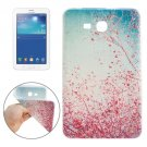 For Galaxy Tab 3 Lite 7.0 Red Flower Pattern TPU Protective Case