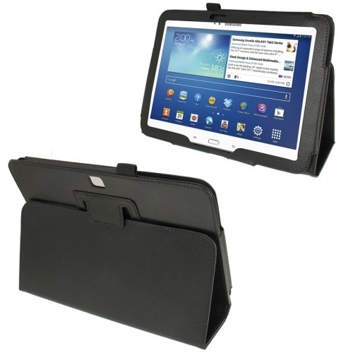 For Galaxy Tab 3 (10.1) Litchi Texture Leather Case with Holder - # Colors