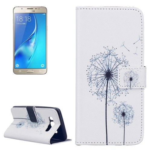 For Galaxy J5 (2016) Dandelion Pattern Leather Case with Holder, Card Slots & Wallet