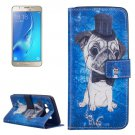 For Galaxy J5 (2016) Dog Pattern Leather Case with Holder, Card Slots & Wallet