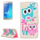 For Galaxy J5 (2016) Owls Love Pattern Leather Case with Holder, Card Slots & Wallet
