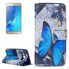 For Galaxy J5 (2016) Butterfly Pattern Leather Case with Holder, Card Slots & Wallet