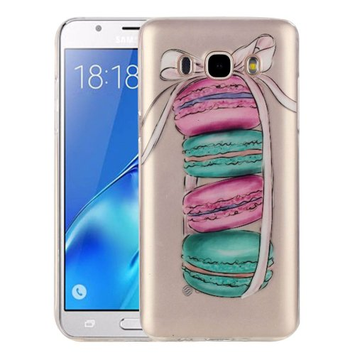 For Galaxy J5 (2016) Macarons Pattern IMD Workmanship Soft TPU Protective Case