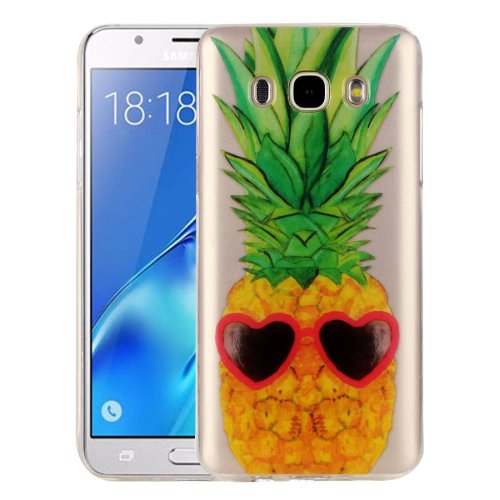 For Galaxy J5 (2016) Pineapple Pattern IMD Workmanship Soft TPU Protective Case