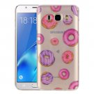For Galaxy J5 (2016) Donuts Pattern IMD Workmanship Soft TPU Protective Case