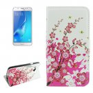 For Galaxy J5 (2016) Blossom Pattern Flip Leather Case with Holder, Card Slots & Wallet