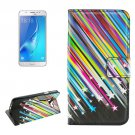 For Galaxy J5 (2016) Meteor Pattern Flip Leather Case with Holder, Card Slots & Wallet