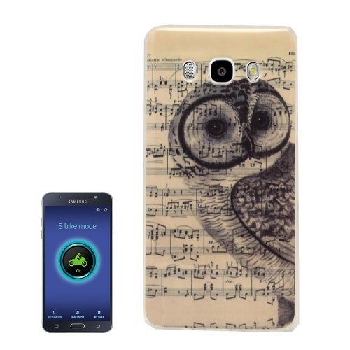 For Galaxy J5 (2016) Owl Music Score Pattern Soft TPU Protective Case Back Cover
