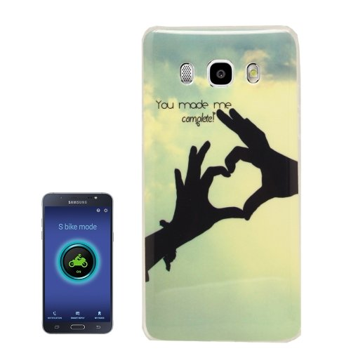 For Galaxy J5 (2016) Love Hands Pattern Soft TPU Protective Case Back Cover