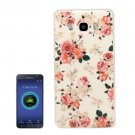 For Galaxy J5 (2016) Flower Pattern Soft TPU Protective Case Back Cover