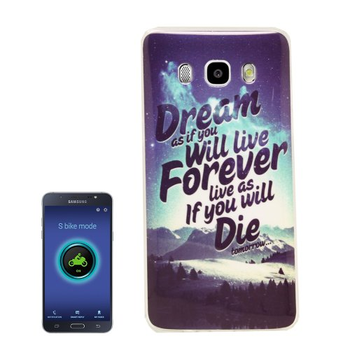 For Galaxy J5 (2016) Mountain Pattern Soft TPU Protective Case Back Cover