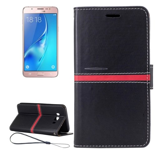 For Galaxy J5 (2016) Crazy Horse Texture Leather Case with Holder, Card Slots & Wallet - # Colors