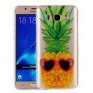 For Galaxy J7 (2016) Pineapple Pattern IMD Workmanship Soft TPU Protective Case